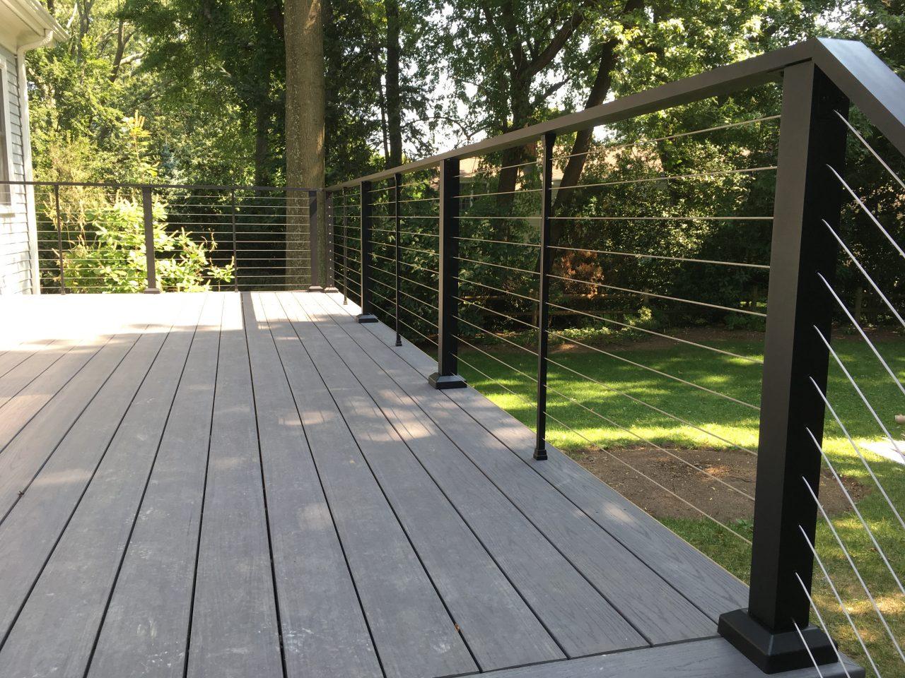 Aluminum Porch Hand Railing Installation Chicago